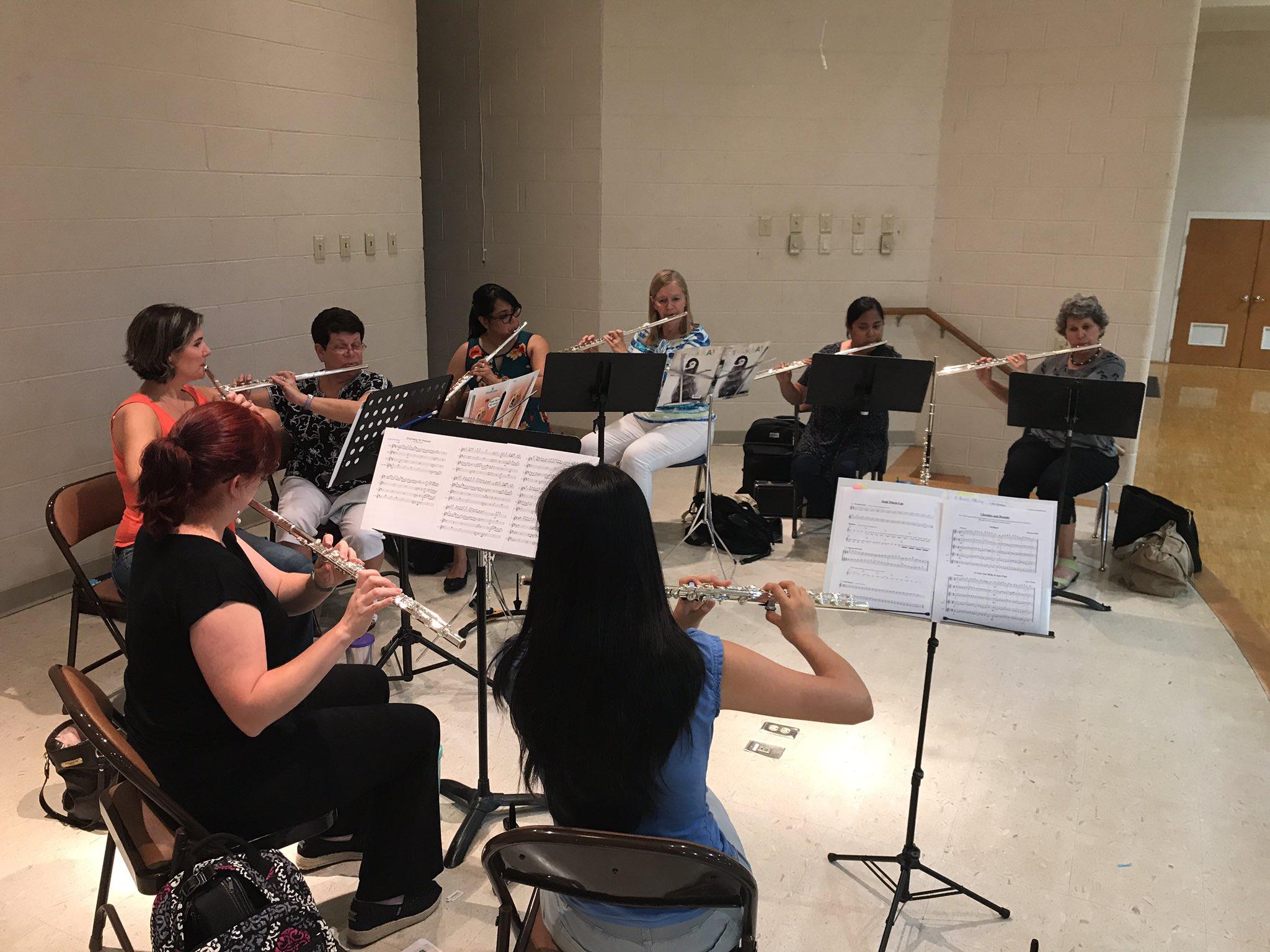 Summerville Flute Choir rehearsing